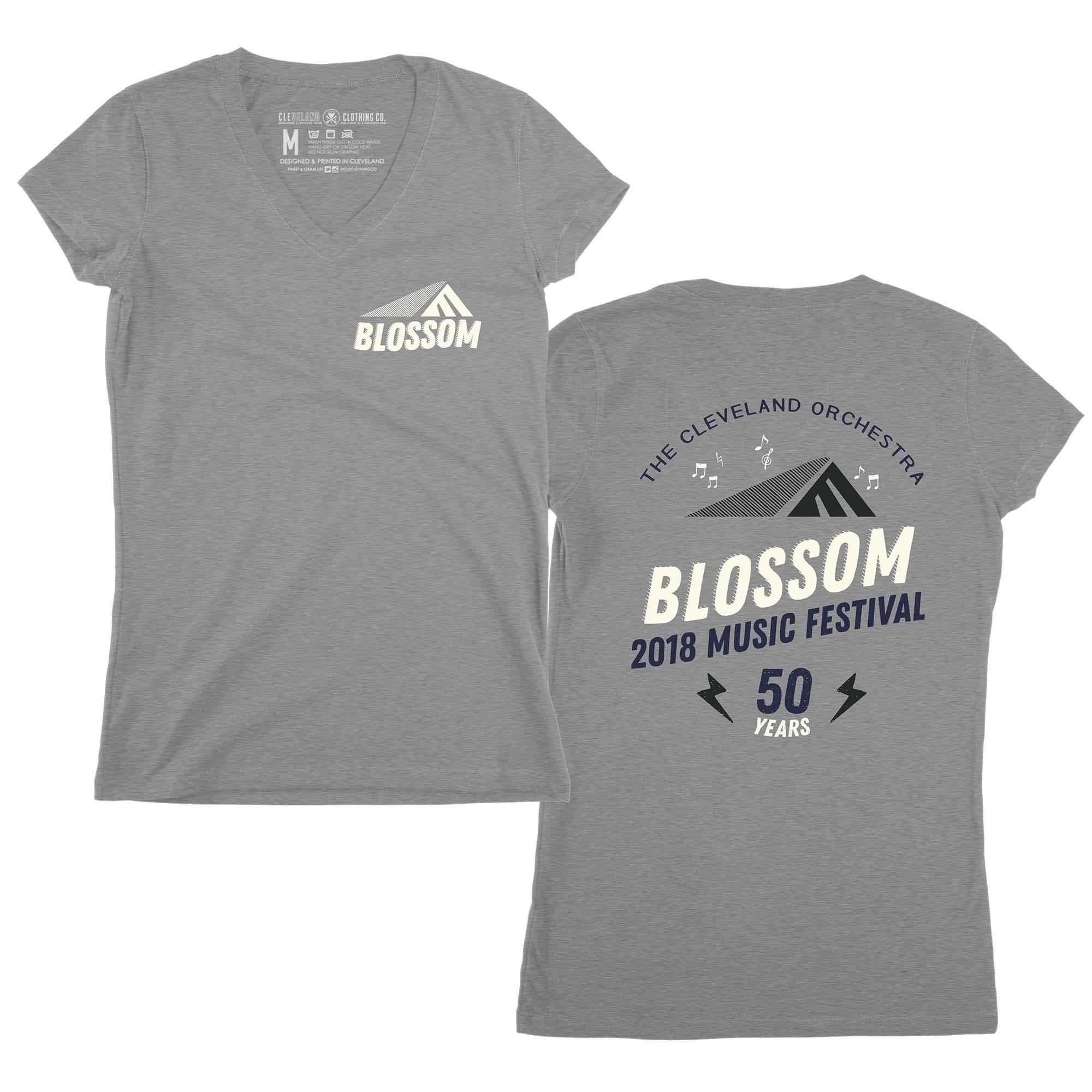 Blossom 50th Women's V-neck T-Shirt