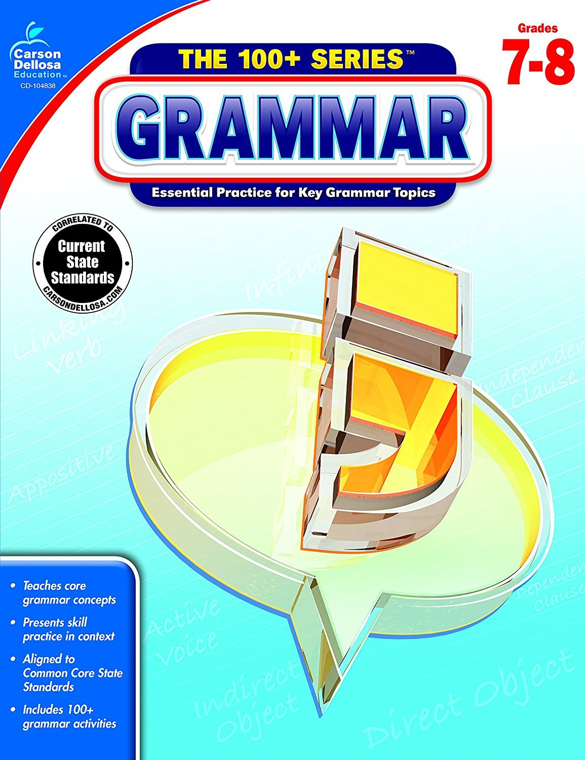 CD 104838 THE 100+ SERIES GRAMMAR G7-8