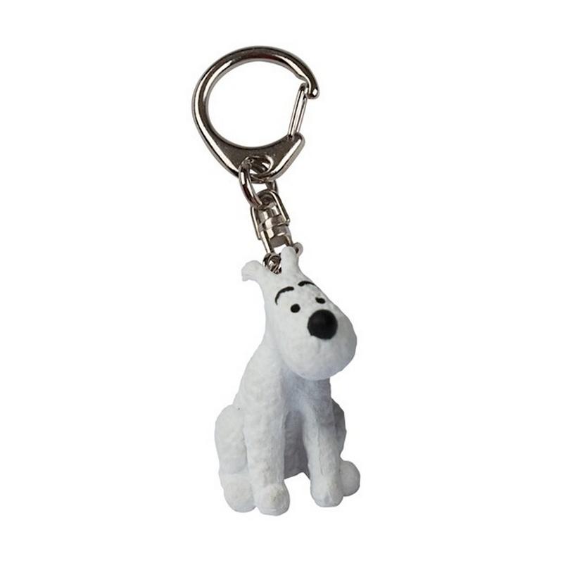 Tintin Key Ring Snowy Sitting 4cm