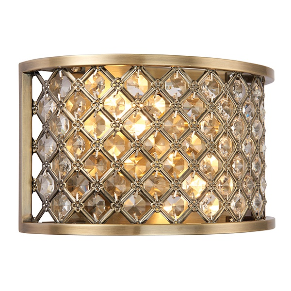 Hudson 2lt wall 60W - antique brass