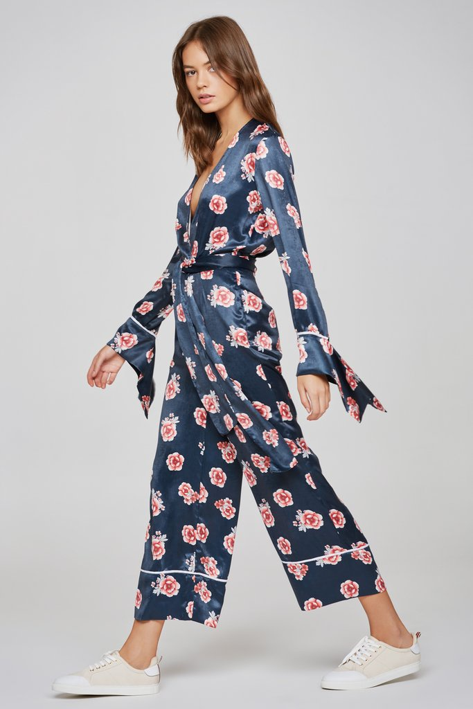 78249e623468 The Fifth Label • Jordan Long Sleeve Jumpsuit • Navy Floral