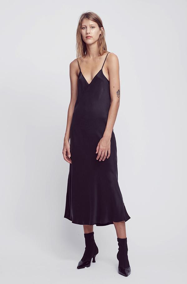 9c6f68759226 Silk Laundry • 90s Silk Slip Dress • Black | SKIN