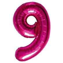 NUMBER 9 MEGENTA 34''