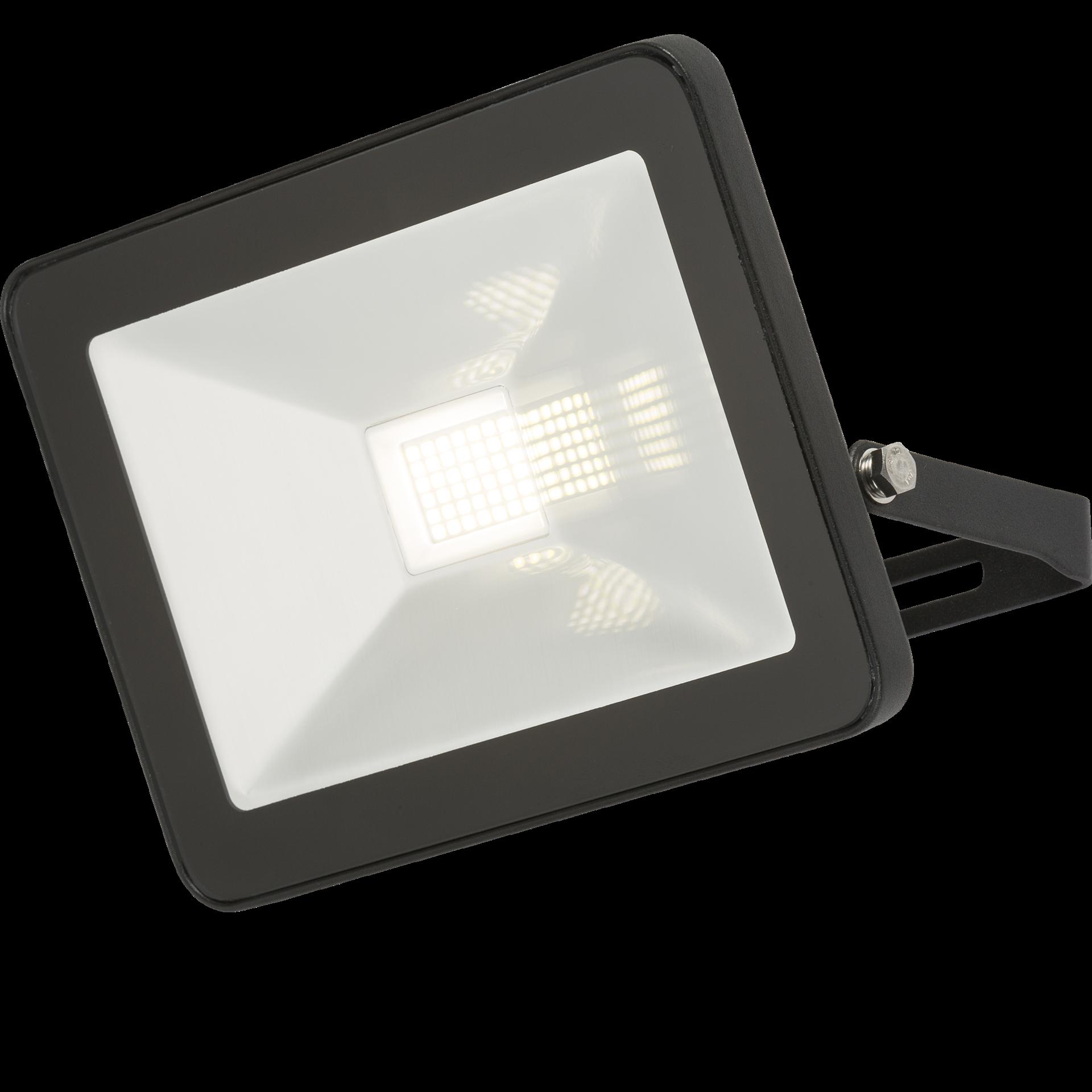 230V IP65 30W LED Black Die-Cast Aluminium Floodlight 4000K