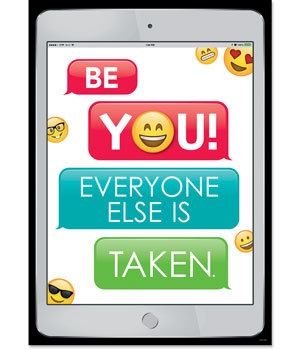 CTP 8095 EMOJI BE YOU... INSPIRE U POSTER