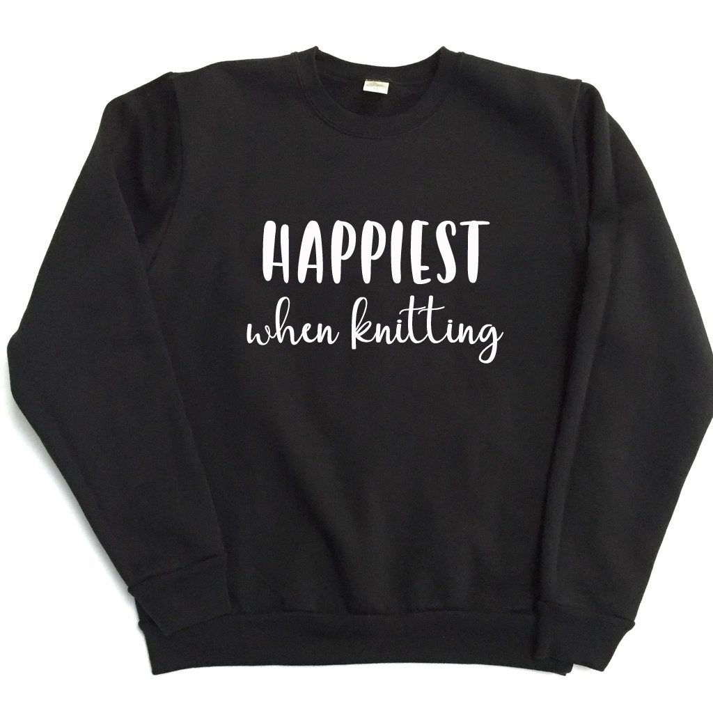 Happiest When Knitting