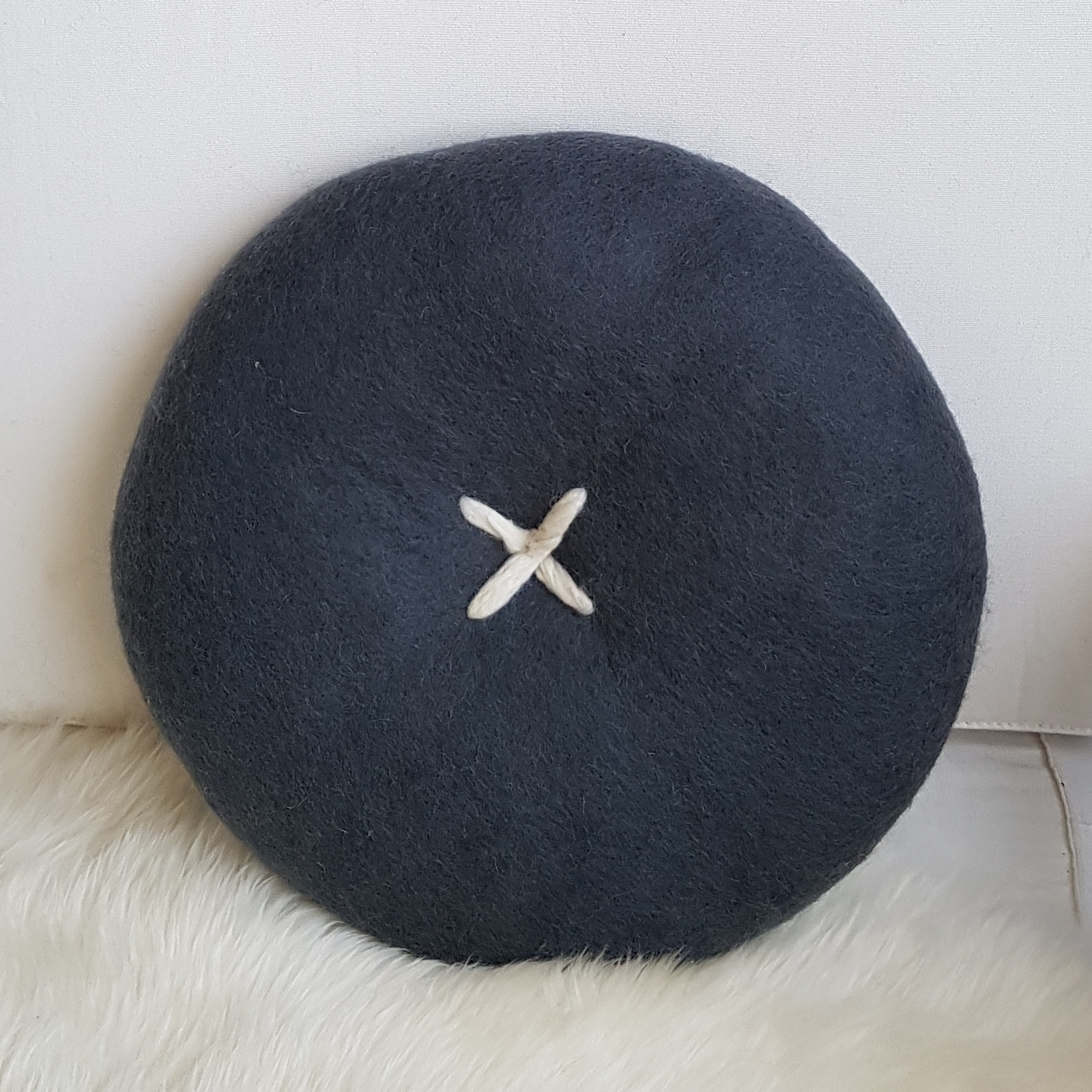 BUTTON CUSHION - STORM