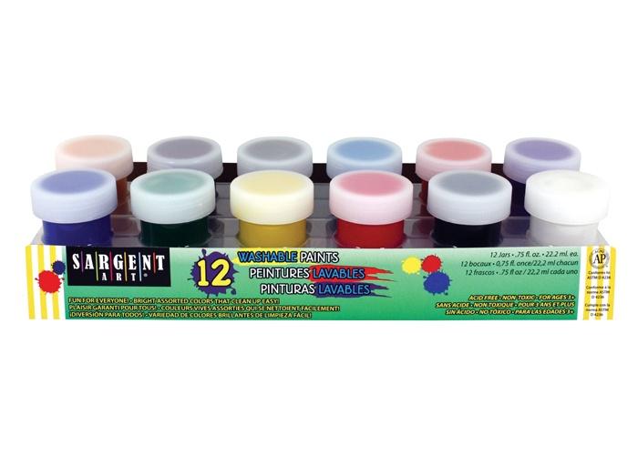 X SA 665618 12 JAR WASHABLE POSTER PAINT SET