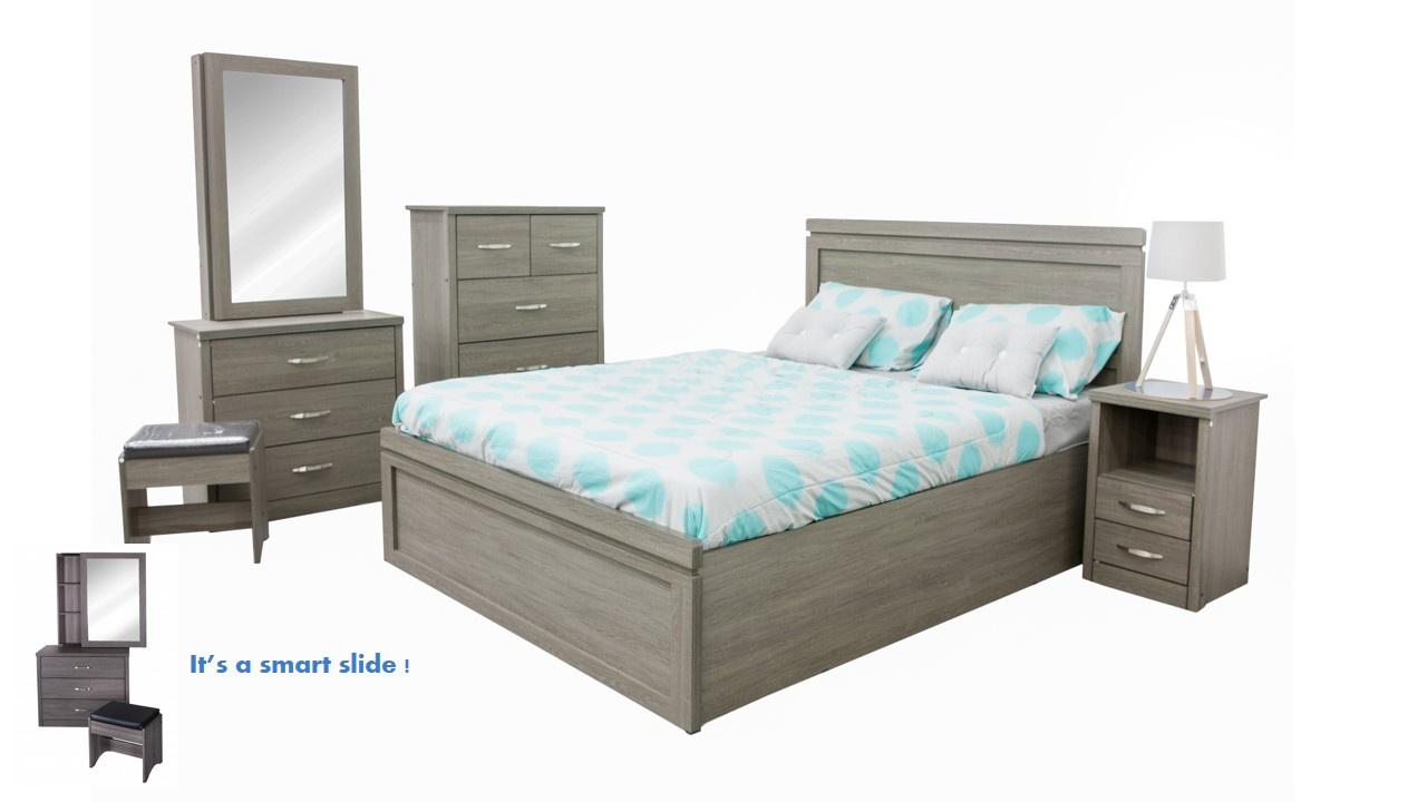 Novo Pc Bedroom Set Stone Grey Lifestyle Furniture - Lifestyle furniture bedroom sets