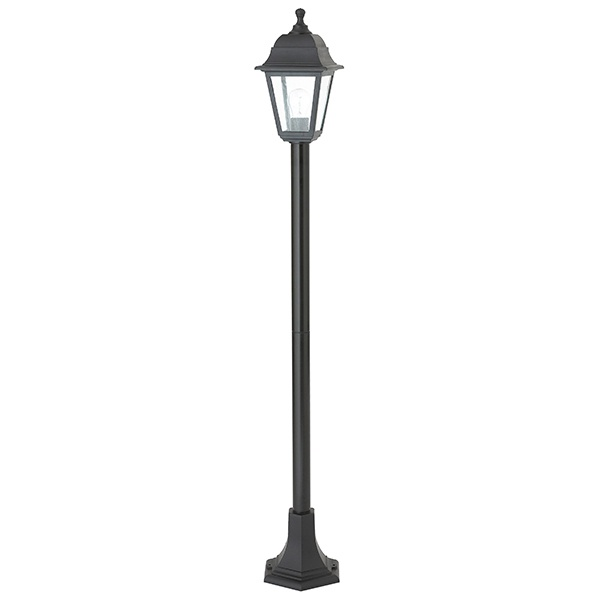 Pimlico bollard IP44 60W floor - black polypropylene