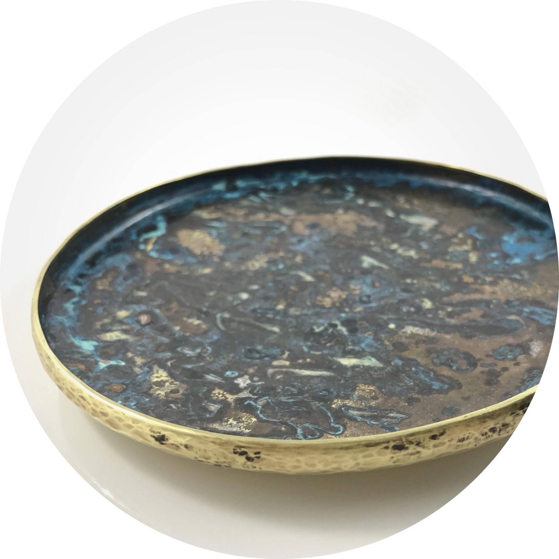 Angela Bakker - 'float' patinated brass bowl