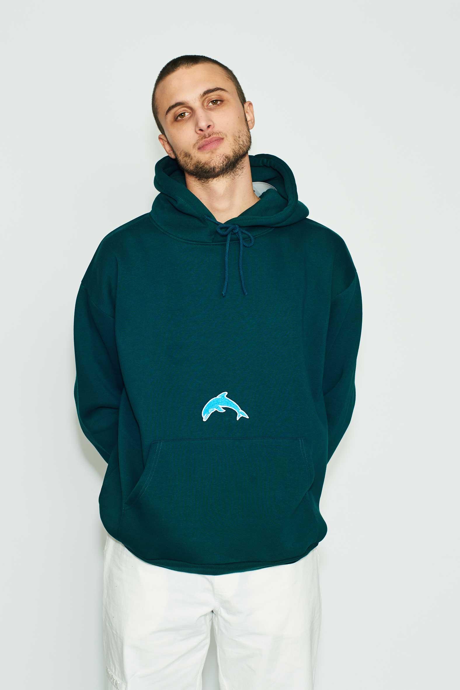 Herotic - Dolphin Hoodie - Dark Green