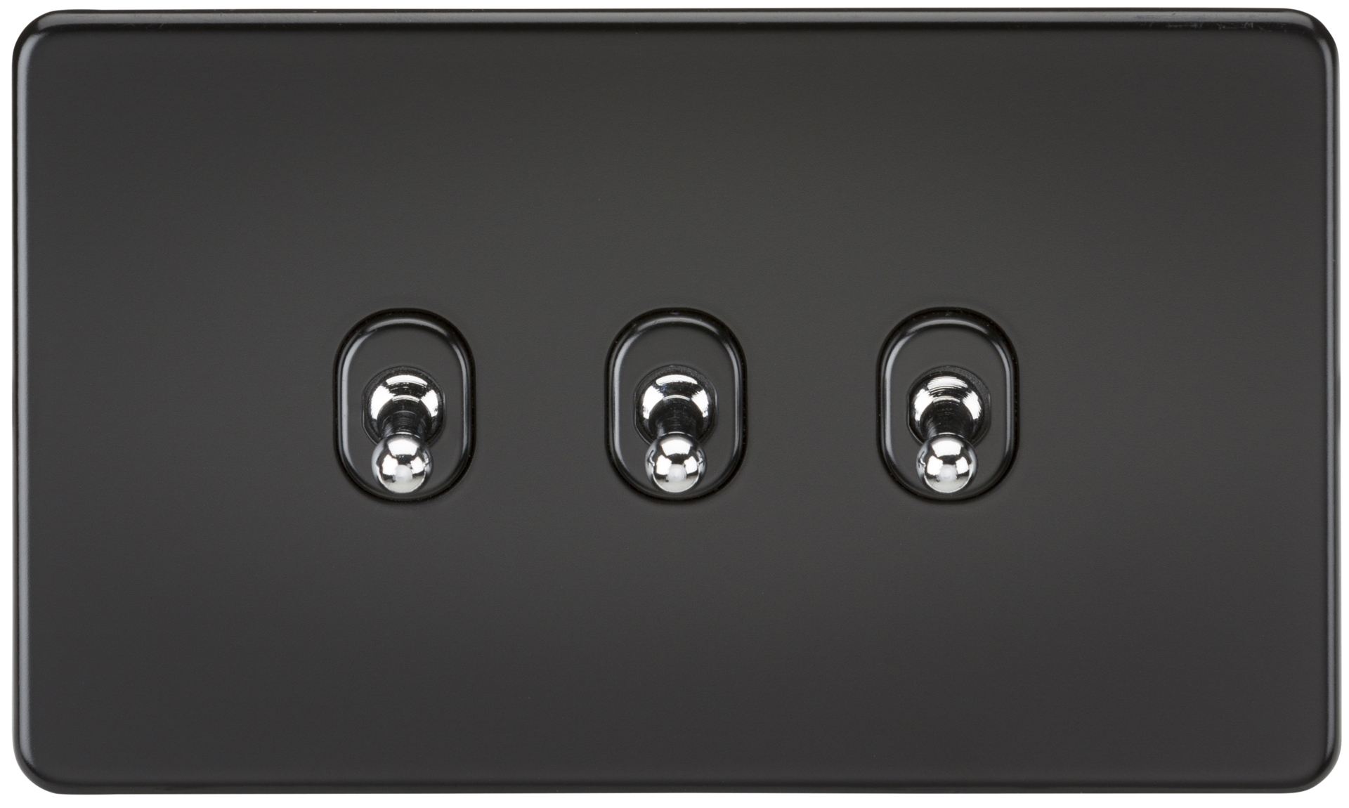 SCREWLESS 10A 3G 2 WAY TOGGLE SWITCH - MATT BLACK