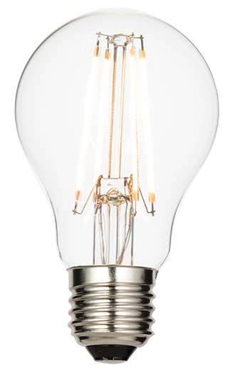 E27 LED filament GLS 6.2W warm white accessory - clear glass