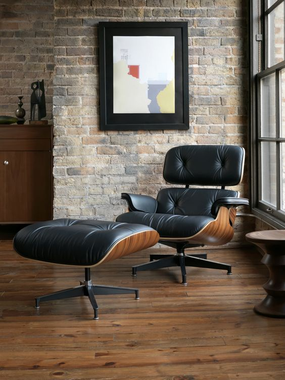 Eames Lounge Chair Replica With Ottoman Sale Industria