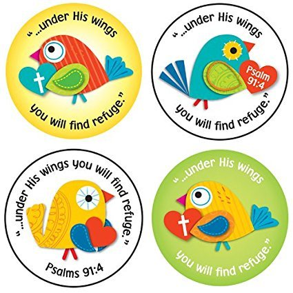 X CD 168165 UNDER HIS WINGS SHAPE STICKERS