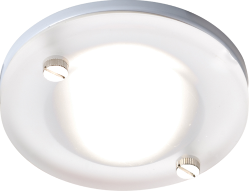 IP65 GU10 50W Round Frosted Glass Downlight in White
