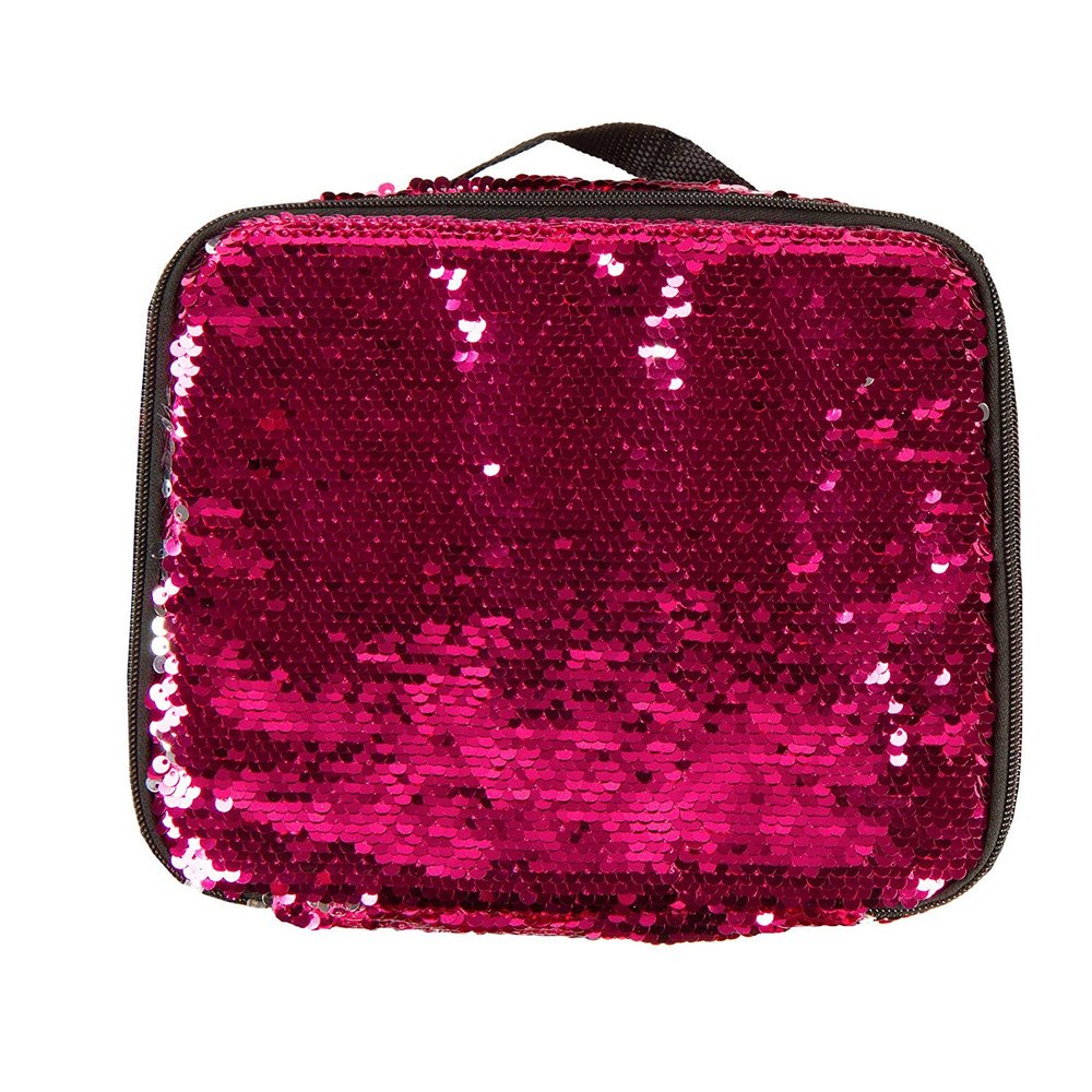 LUNCH TOTE PINK SEQUIN