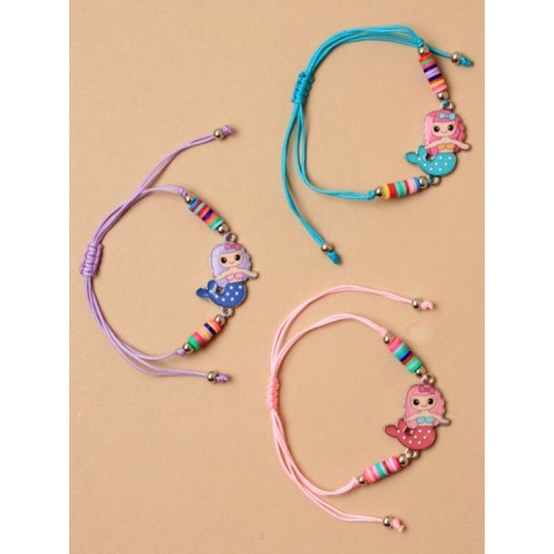 9b0008908 Mermaid Charm Corded Bracelet