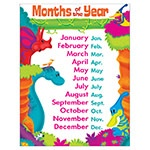 X T 38482 DINO-MITE PALS MONTHS OF THE YEAR CHART
