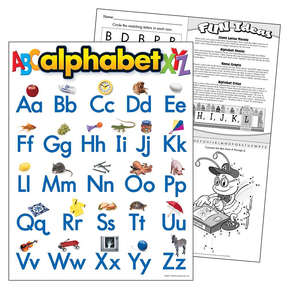 T 38026 ALPHABET CHART