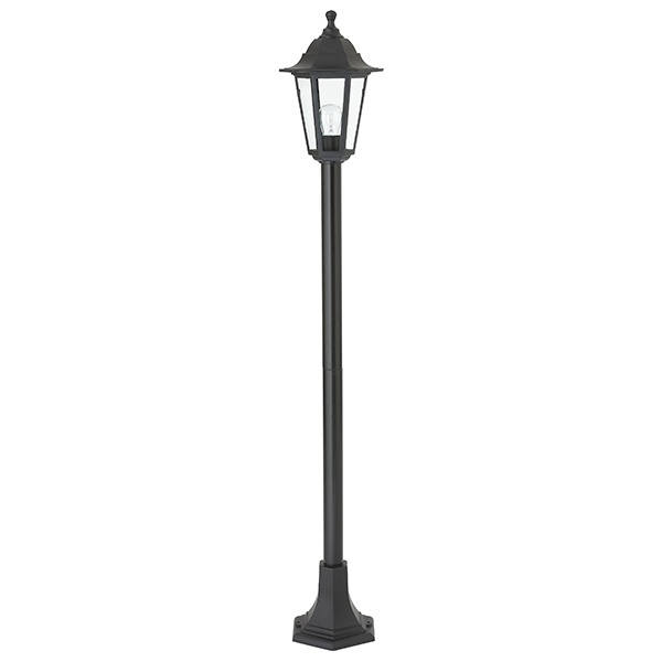 Bayswater lamp post IP44 60W floor - black polypropylene
