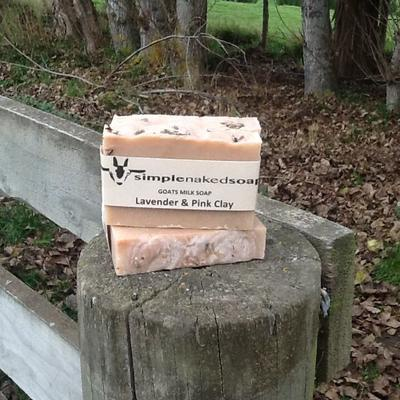 GOATS MILK SOAP - LAVENDER & PINK CLAY