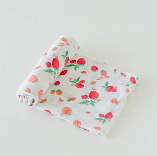 Cotton Swaddle | Strawberry