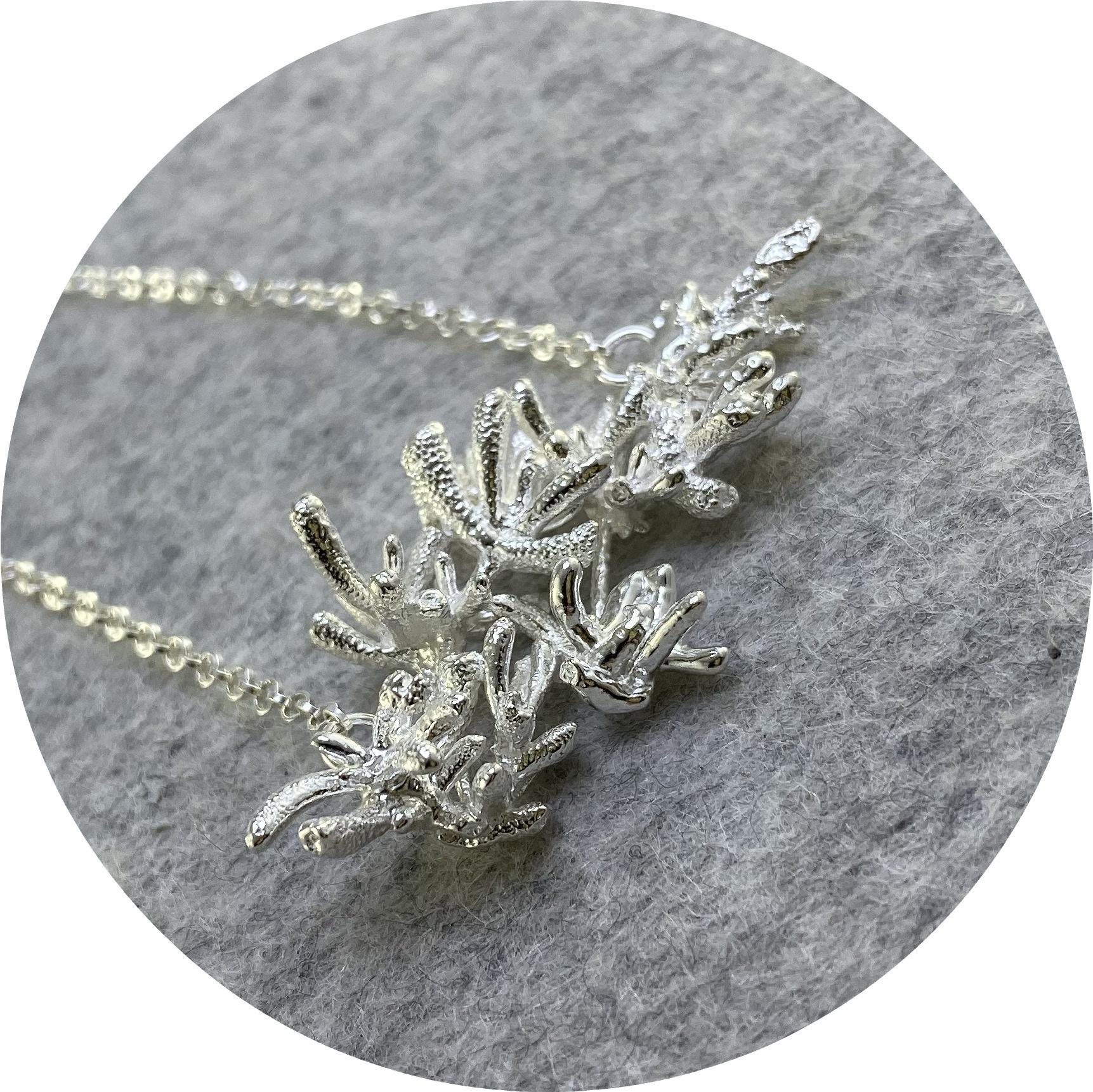 Manuela Igreja- Succulent Necklace. Sterling silver.