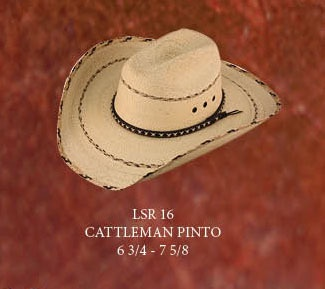Lone Star Cattleman Pinto Palm Leaf Cowboy Hat Kenny Chesney Style ... d2679288021