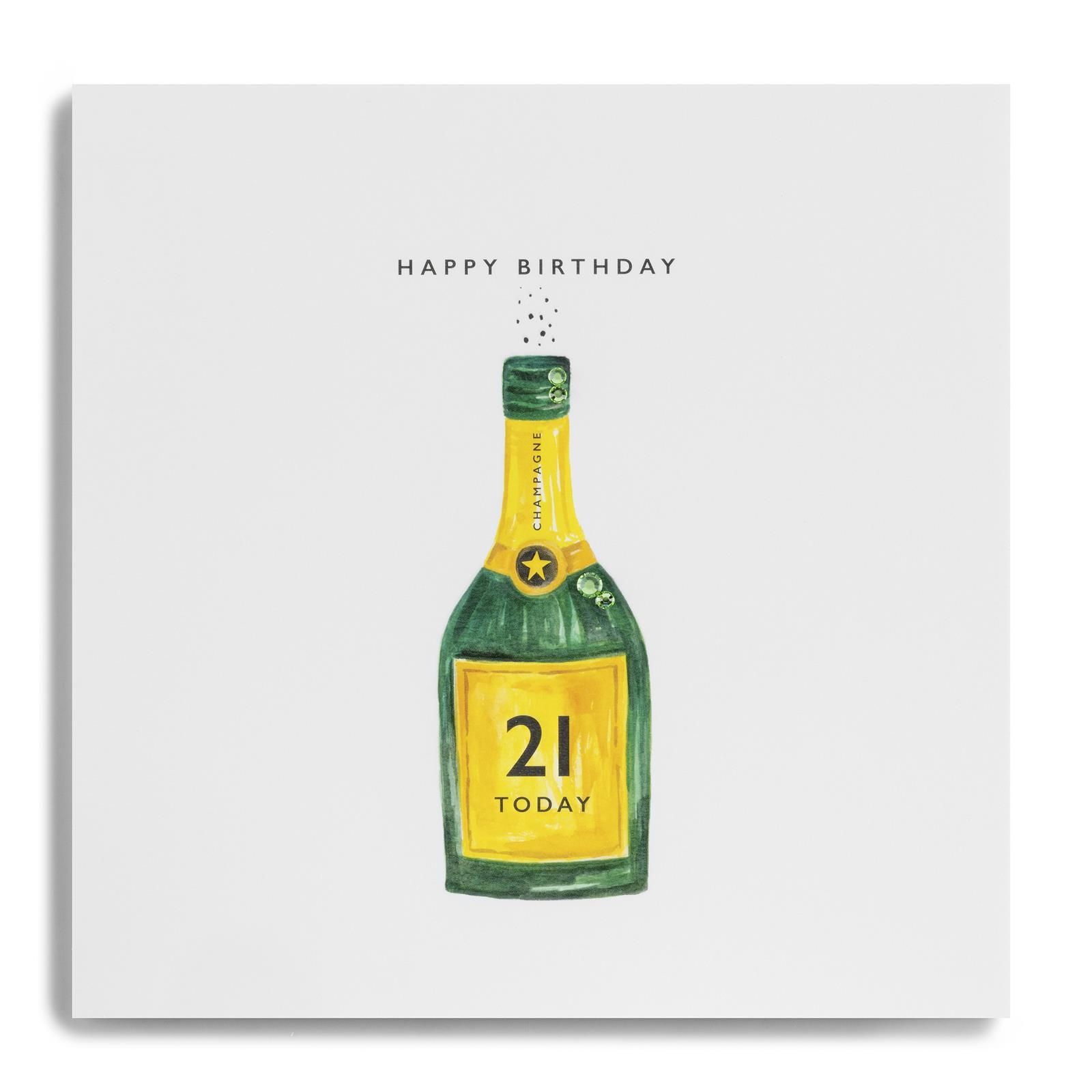Happy Bithday 21 Today Bottle Of Champagne Pke10 Age 21 Birthday