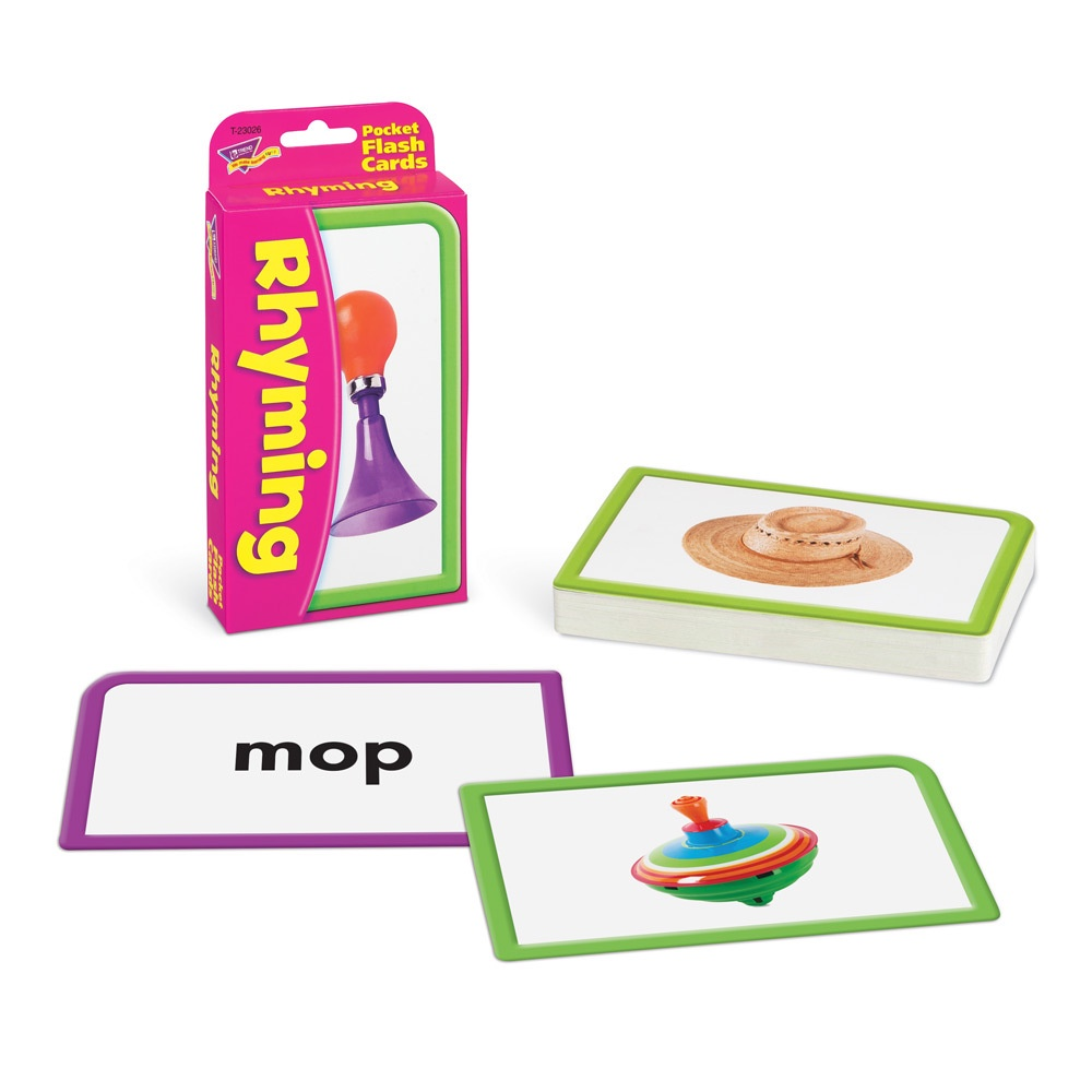 T 23026 RHYMING POCKET FLASH CARDS