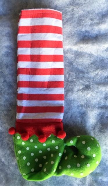 2eaf90254d2 Red White Striped Elf Stocking