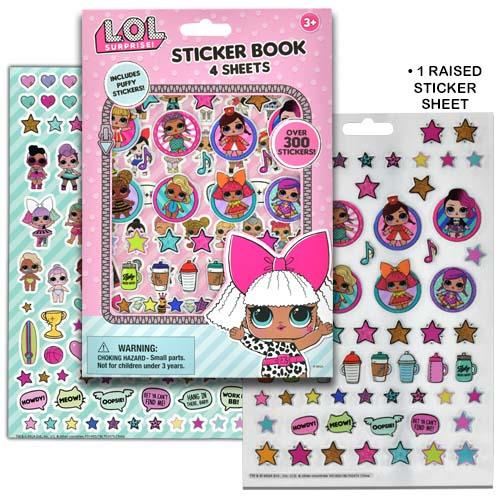 LOL SURPRISE STICKER BOOK WITH PUFFY STICKERS