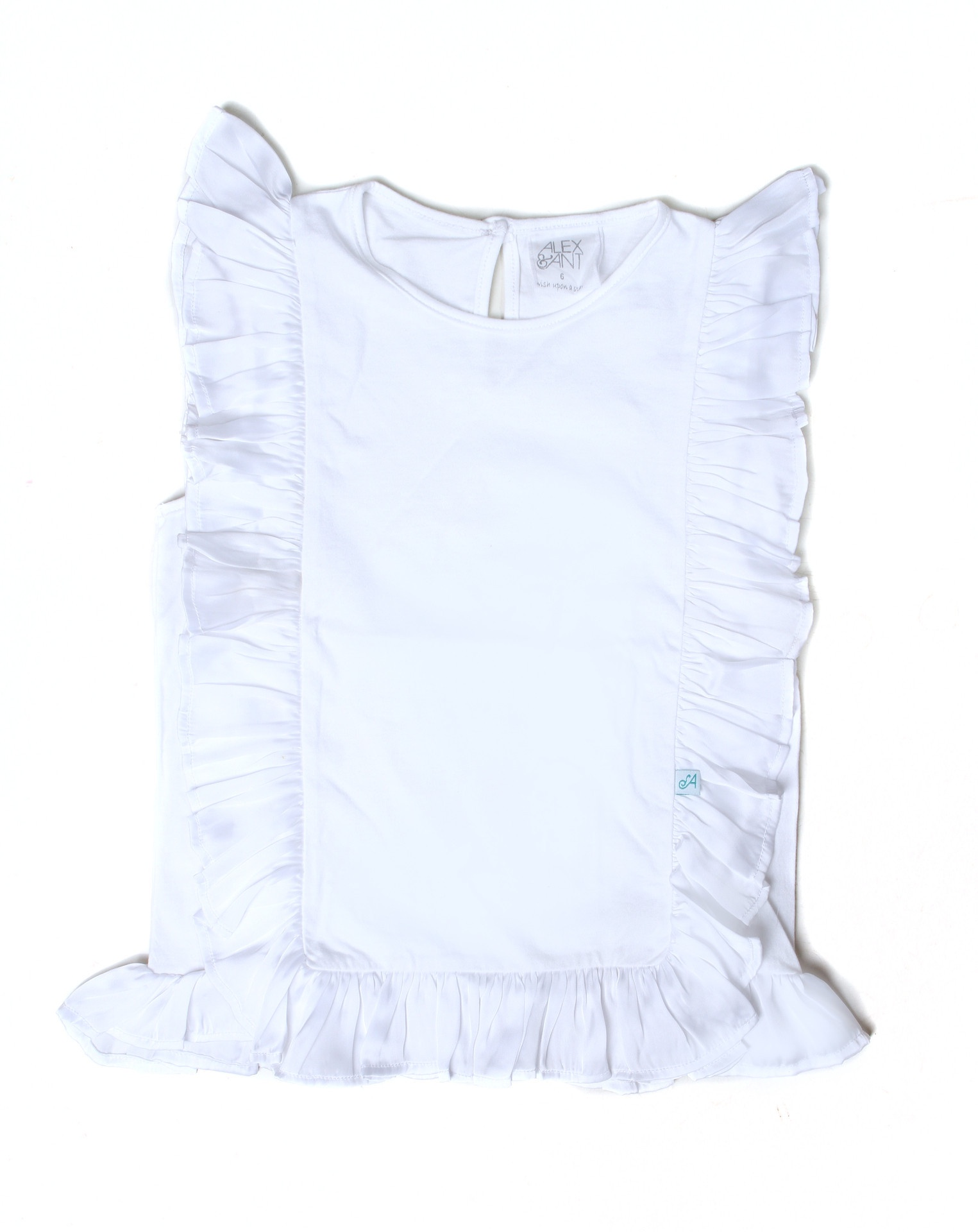 Alex&Ant Side Frill Tee - white