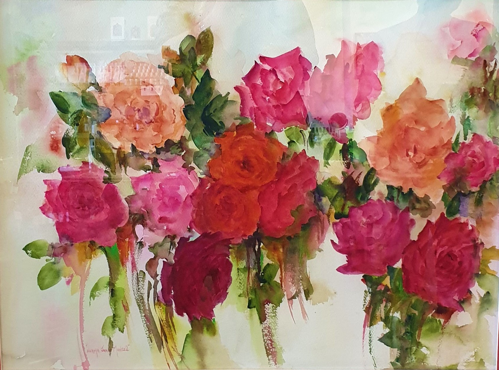 Beauty - water colour by Norma Jean Mansell