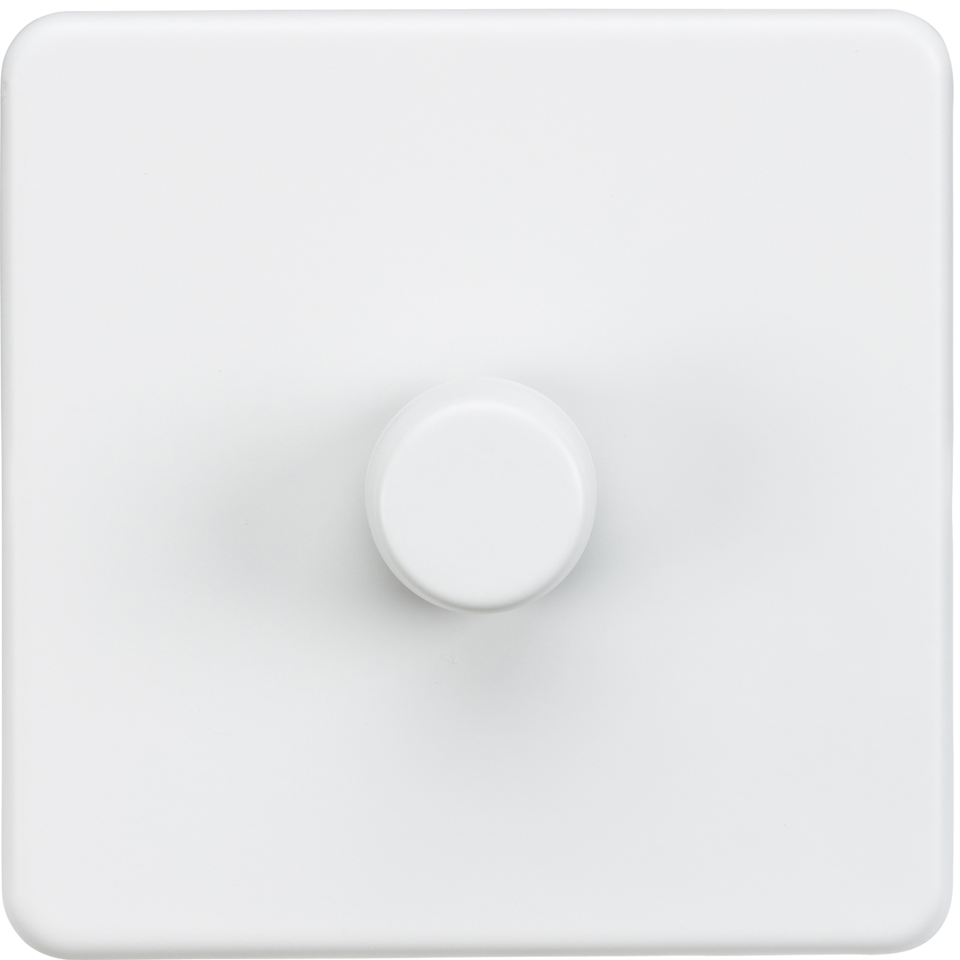 Screwless 1G 2 way 40-400W dimmer switch - Matt white