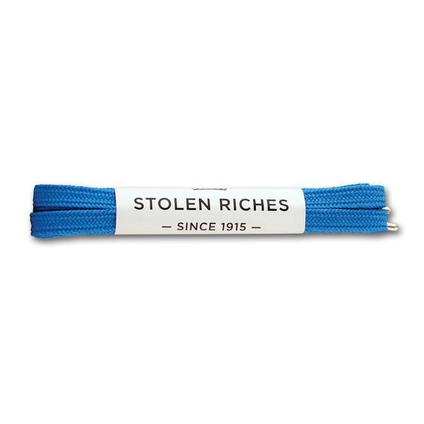 STOLEN RICHES - SNEAKER LACES (6-7 EYELETS) IN DICKIE BLUE
