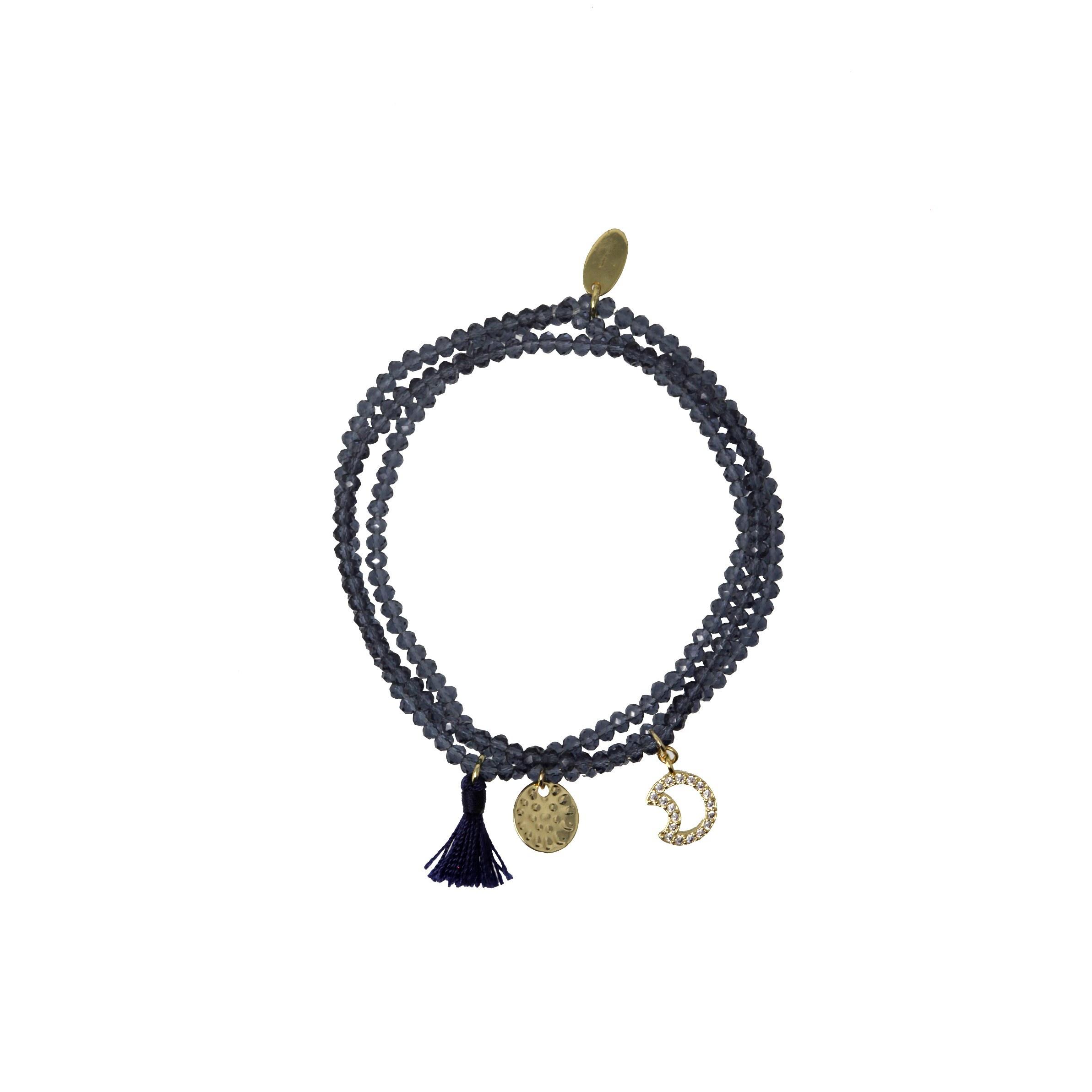 Treasure Moon Charm Bracelet by Ashiana London