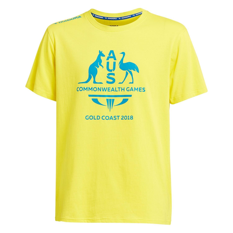 Team Australia Men's Logo T-Shirt Yellow