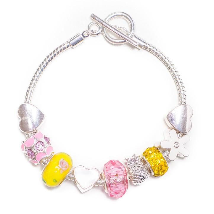 Lauren Hinkley Pink Yellow Teen Charm Bracelet