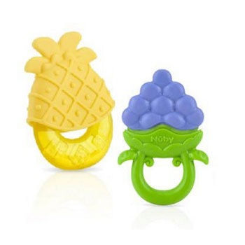 NUBY CHEWABLE TEETHER TWIN PACK 3M+