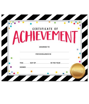 CTP 2564 BOLD & BRIGHT CERTIFICATE OF ACHIEVEMENT