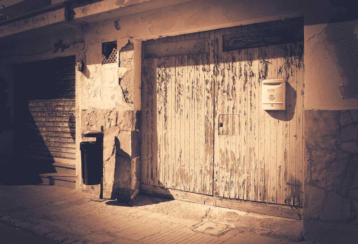 Garage Door Sepia