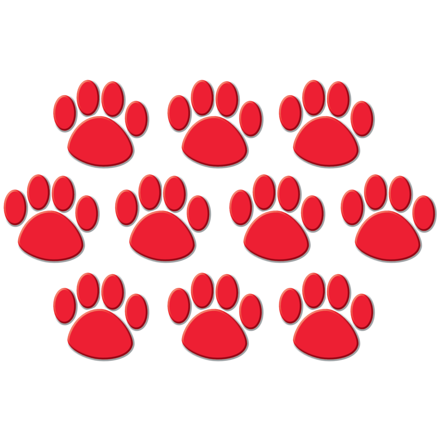 TCR 4647 TED PAW PRINTS CUTOUTS