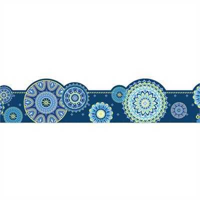 EU 845624 BLUE HARMONY MANDALA DECO TRIM EXTRA WIDE