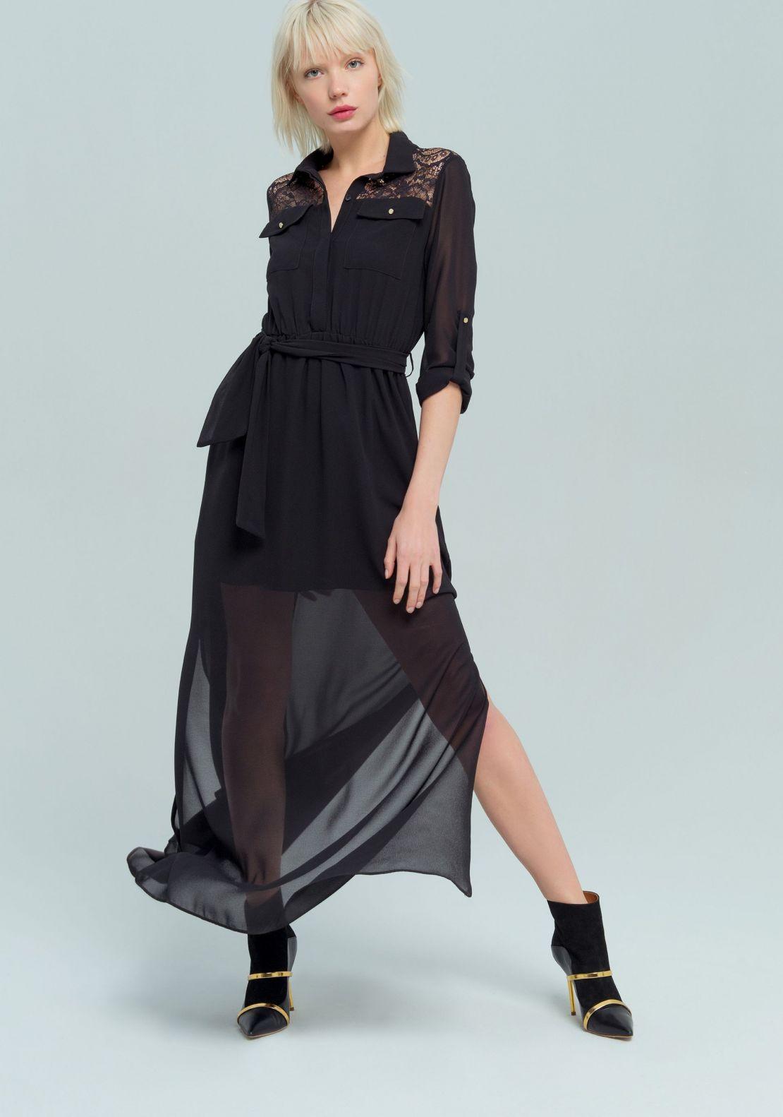 Fracomina Lace Shirt Dress 042