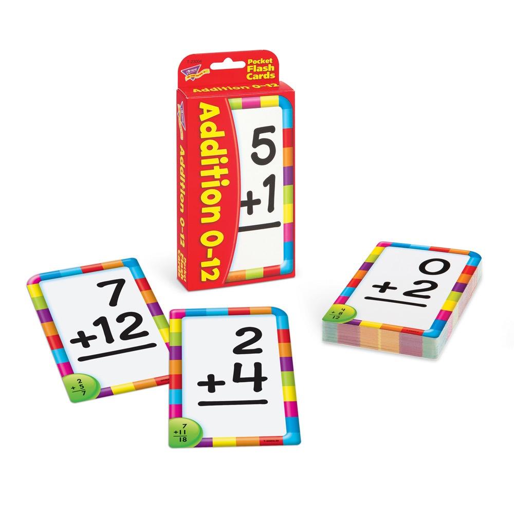 T 23004 ADDITION 0-12 POCKET FLASH CARDS