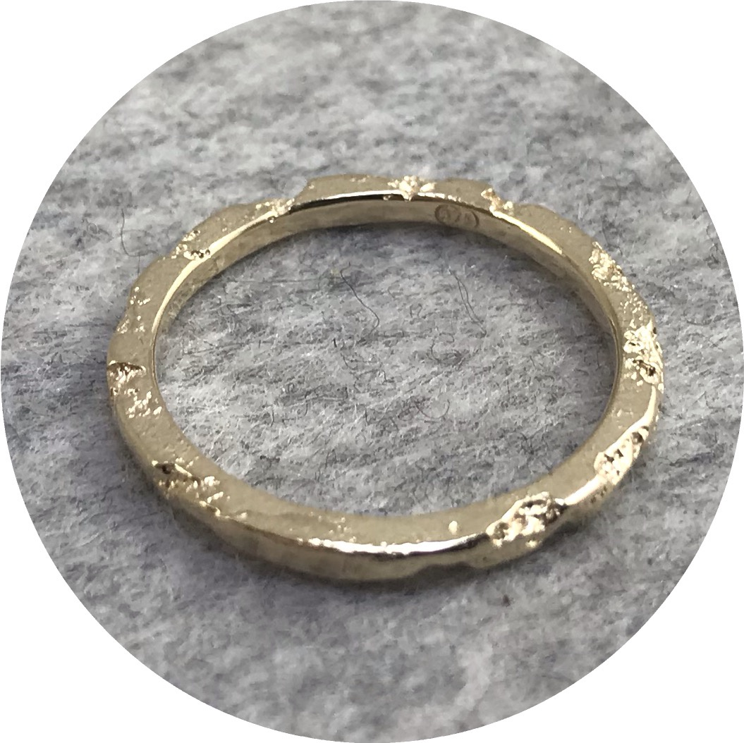 Albert Tse - Crater 1.5mm 9ct Yellow Gold Ring
