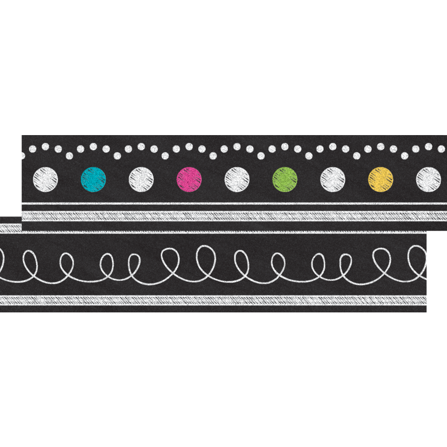 TCR 77312 CHALKBOARD BRIGHTS RIBBON RUNNER